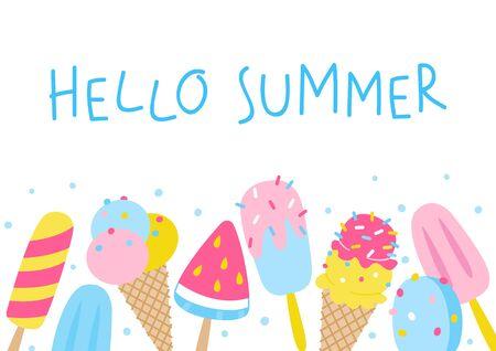 Your summer design  イラスト・ベクター素材