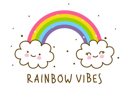 Rainbow isolated on white background  イラスト・ベクター素材