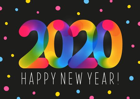 New Year concept with color 2020 numbers for your holiday design
