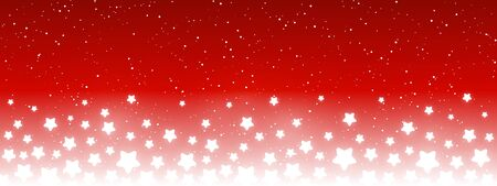 Błyszczące gwiazdki na czerwonym tle - poziomy panoramiczny baner do swojego projektu Ilustracje wektorowe