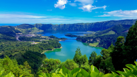 Lake Azul on the island of Sao Miguel, Azores Stock fotó