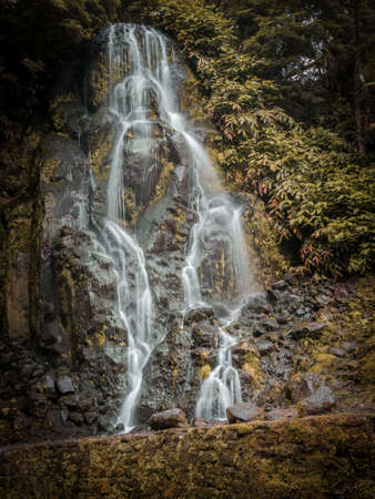 Veu da Noiva waterfall, Sao Miguel island, Azores, Portugal.