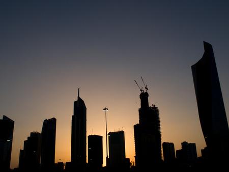 sunni: Kuwait skyline silhouette