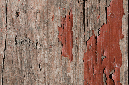 Texture, background, close-up, wood is painted with brown paint, old paint, almost disappeared Banco de Imagens