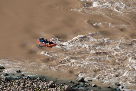 muddy: muddy river rafting