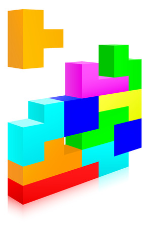 tetris: Classic tetris game Illustration