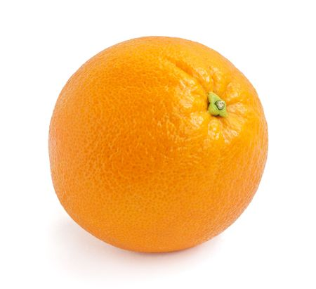 Orange isolated on the white background photo