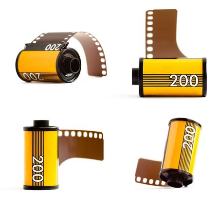 35mm: Canisters of 35mm film
