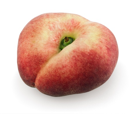 Peach Paraguayo isolated on a white background photo