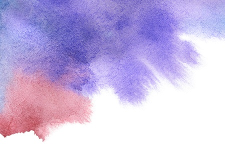 Red-blue spot, watercolor abstract hand painted background Stock Photo - 12515733