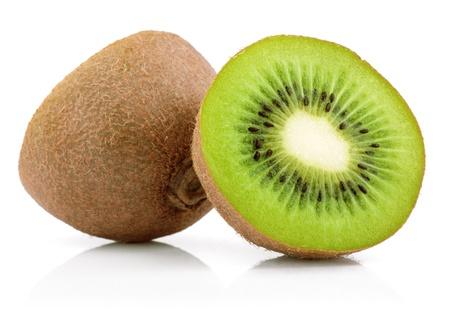 Juicy kiwi fruit isolated on white background photo