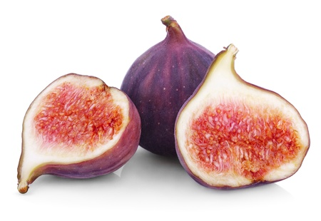 Fresh fig fruits isolated on white background photo