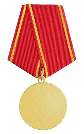 bronze medal: Gold russian medal isolated on white background Stock Photo
