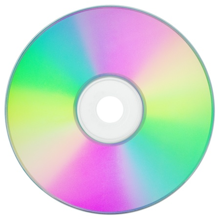 optical disk: CD or DVD isolated on white background