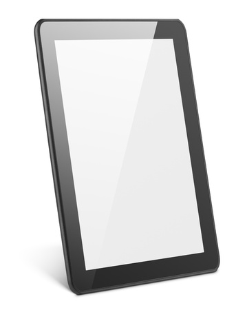 computer tablet: Modern tablet pc isolated on white with clipping path