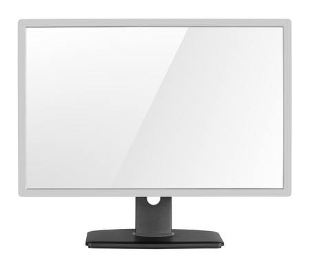 clipping  path: Blank modern computer display isolated on white background with clipping path Stock Photo
