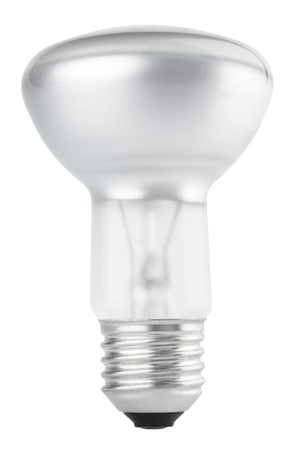 Halogen bulb isolated on white with clipping path photo