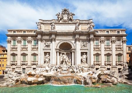 italian fountain: Rome, Italy - famous Trevi Fountain  Italian  Fontana di Trevi