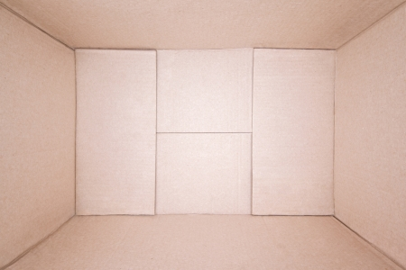 Top view of empty brown cardboard box photo