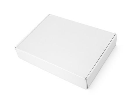 pizza box: Caja de pizza de cart�n en blanco Cerrado Foto de archivo