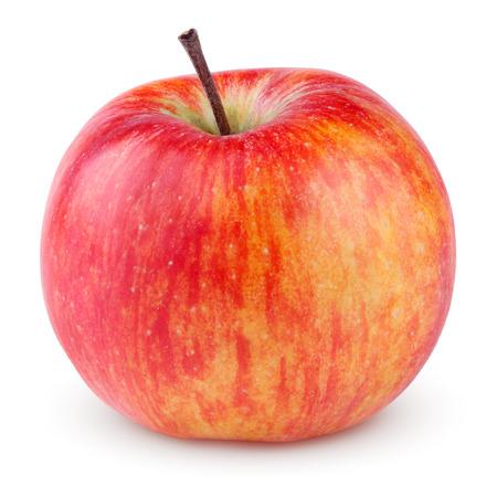 pomme rouge: Pomme jaune rouge isol� sur blanc avec chemin de d�tourage