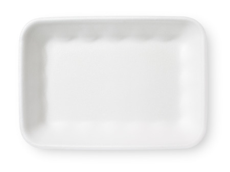 paper plates: food tray  Stock Photo