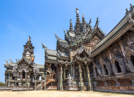 The Wood Sanctuary of Truth in Pattaya, Chonburi, Thailand