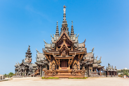 The Wood Sanctuary of Truth in Pattaya, Chonburi, Thailand photo