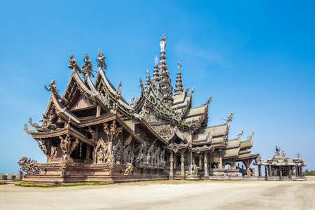 sanctuary: The Wood Sanctuary of Truth in Pattaya, Chonburi, Thailand