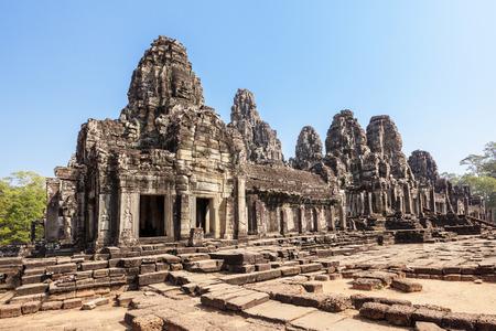 bayon: Bayon temple at Angkor Thom complex, Siem Reap, Cambodia  Stock Photo
