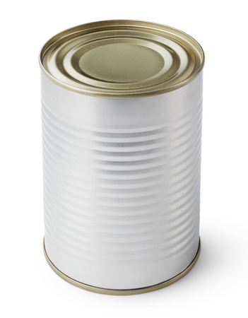can food: Metal Tin Can isolated on white with clipping path