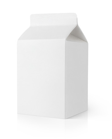 milk carton: Blank milk carton package isolated on white background with clipping path