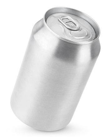 aluminum can: 330 ml aluminum soda can isolated on white with clipping path