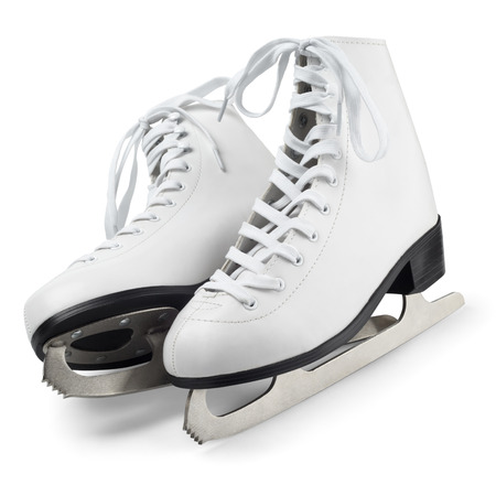 Figure skates isolated on white with clipping path photo