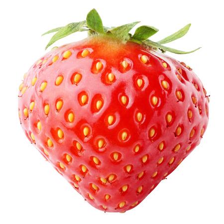 Strawberry berry isolated on white background photo