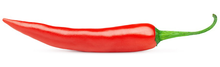 red chilli: Hot red chili or chilli pepper isolated on white background