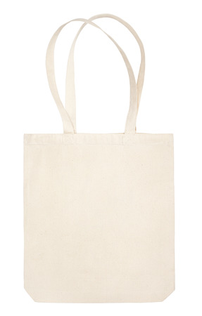 fabric bag isolated on white background with clipping path