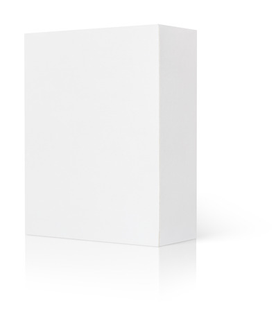 Blank cardboard box isolated on white background with clipping path