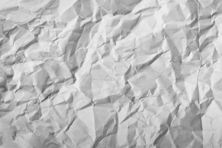 crushed: Texture of white crumpled paper full frame