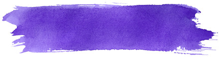 paint brush stroke: Violet stroke of watercolor paint brush isolated on white Illustration