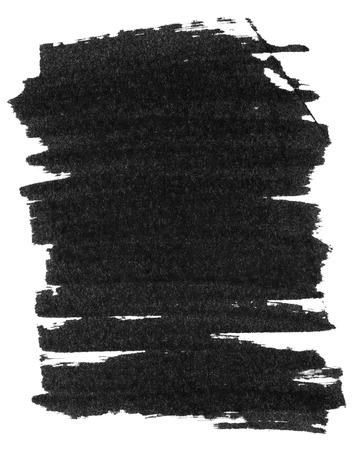 白い背景に分離された黒のマーカー ペイント テクスチャ