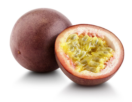 passion fruit: Passion fruit with cut half isolated on white with clipping path