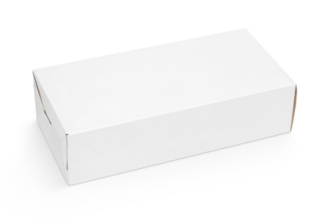 closed box: Blank cardboard box isolated on white background with clipping path