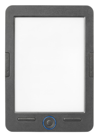 e ink: Portable e-book reader isolated on white background with clipping path Stock Photo