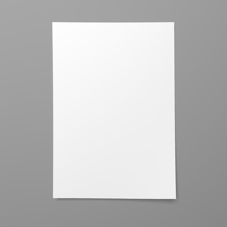 Blank empty sheet of white paper on gray background 写真素材