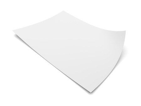 Blank sheet of paper isolated on white background