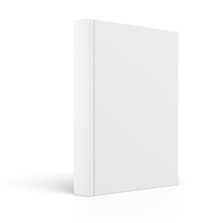 white blank: Blank book cover isolated on white background