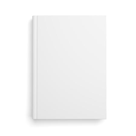 book: Prázdný knižní kryt izolovaných na bílém pozadí se stínem Reklamní fotografie