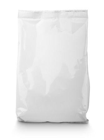 Blank Snack bag package isolated on white with clipping path Stockfoto