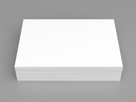 stacks: Pile of white paper on grey background